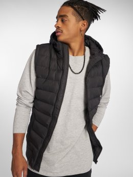 Urban Classics Veste sans manche Small Bubble Hooded noir