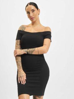 Urban Classics Vestido Off Shoulder Rib negro