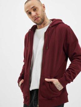 Urban Classics Zip Hoodie Basic czerwony