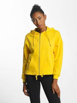 Urban Classics Frauen Zip Hoodie Kimono in gelb