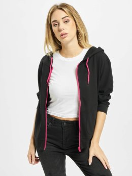 Urban Classics Zip Hoodie Ladies Bat 3/4 Sleeve schwarz