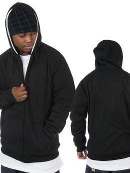 Urban Classics Zip Hoodie Winter schwarz