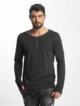 Urban Surface Longsleeve Button grau