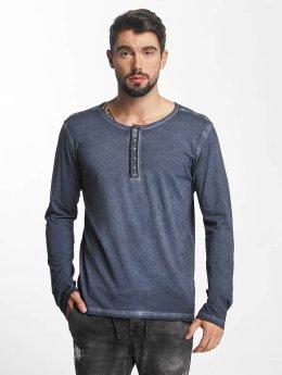 Urban Surface T-Shirt manches longues Button bleu