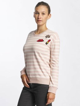 Urban Surface Striped Patch Sweatshirt Shadow Rose/Off White