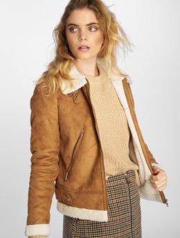 Vero Moda Демисезонная куртка vmAnais Faux Shearling коричневый