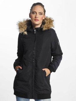 Vero Moda Coats vmDicte Fake Fur 3/4 blue