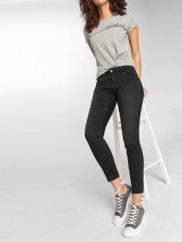 Vero Moda dżinsy przylegające vmFive LR Slim Fit Ankle czarny