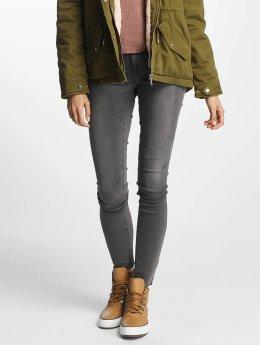 Vero Moda Jean skinny vmFive Slim Fit gris