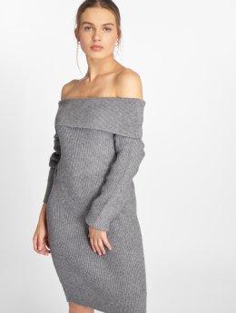 Vero Moda jurk vmJina Svea Off Shoulder grijs