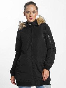 Vero Moda Kabáty vmDicte Fake Fur 3/4 èierna