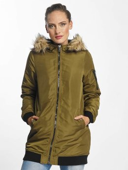 Vero Moda Kabáty vmDicte Fake Fur 3/4 J olivová