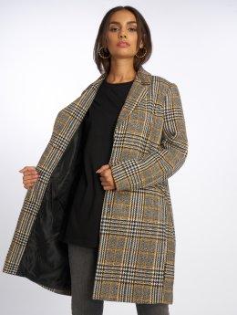 Vero Moda Kabáty vmCindy Check 3/4 Wool oranžová