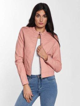 Vero Moda Lederjacke vmAlice Short Faux Leather rosa