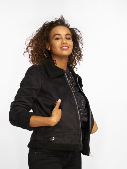 Vero Moda Lightweight Jacket vmAnais Faux Shearling black