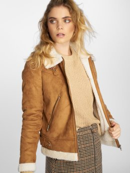 Vero Moda Lightweight Jacket vmAnais Faux Shearling brown