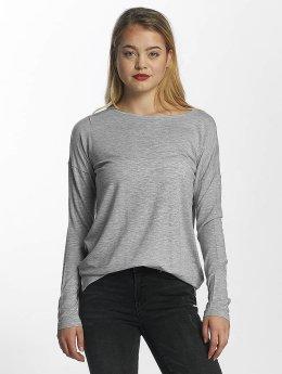 Vero Moda Maglietta a manica lunga vmBava grigio
