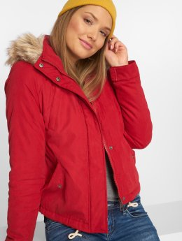 Vero Moda Manteau hiver vmLimit Brush rouge