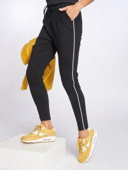 Vero Moda Pantalon chino vmEva Loose String Piping noir