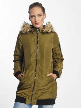 Vero Moda Parka vmDicte Fake Fur 3/4 J olijfgroen