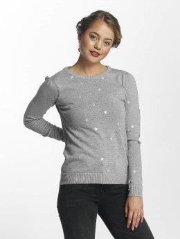 Vero Moda Pullover vmSnowflake grau