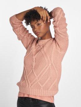 Vero Moda Puserot vmAlia Cable Knit roosa