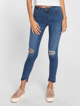 Vero Moda Frauen Slim Fit Jeans vmSeven in blau