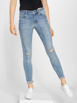 Vero Moda Slim Fit Jeans vmSeven AM306 modrá