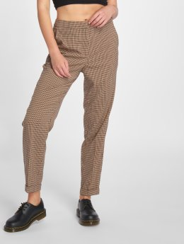 Vero Moda Spodnie wizytowe vmLaja Selma Cigaret brazowy