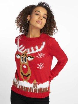 Vero Moda Swetry vmRudolph  czerwony