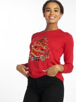 Vero Moda Swetry vmChristmas Tree czerwony