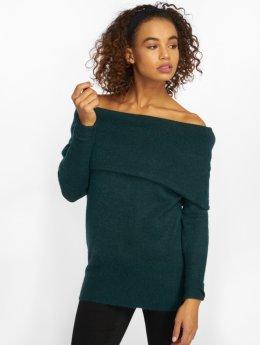 Vero Moda Swetry vmAgoura Off Shoulder zielony