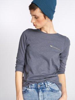 Vero Moda T-Shirt manches longues vmMalka Zip 3/4 bleu