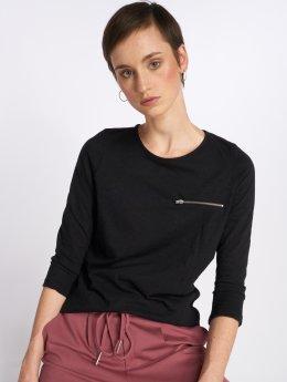 Vero Moda T-Shirt manches longues vmMalka Zip 3/4 noir