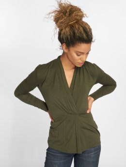 Vero Moda T-Shirt manches longues vmEsta Pleated olive