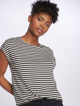 Vero Moda T-Shirt vmAva Plain Stripe weiß