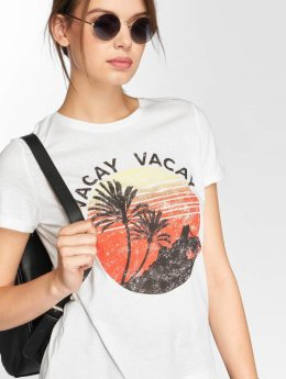 Vero Moda T-Shirty vomPolly bialy