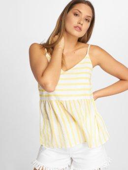 Vero Moda Topssans manche vmSunny Stripy blanc