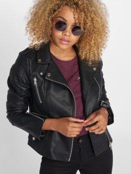 Vero Moda Veste & Blouson en cuir vmApril noir
