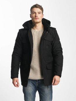 Vintage Industries Manteau hiver Darren noir