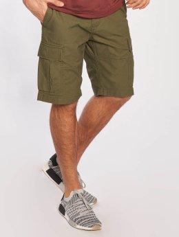 Vintage Industries shorts Kirby olijfgroen