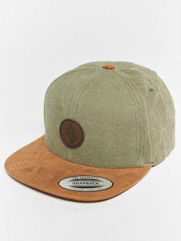Volcom snapback cap Quarter Fabric olijfgroen