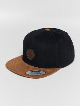 Volcom Snapback Caps Quarter Fabric čern
