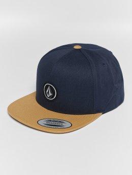 Volcom Quarter Twill Snapback Cap Midnight Blue