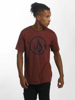 Volcom T-paidat Circle Stone punainen
