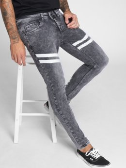 VSCT Clubwear Облегающие джинсы Nick Athletic Musclefit серый