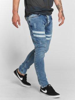 VSCT Clubwear Облегающие джинсы Nick Athletic Musclefit синий