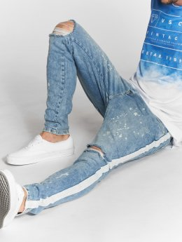 VSCT Clubwear Облегающие джинсы Knox Slim Track синий