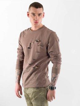 VSCT Clubwear Пуловер Slashed коричневый