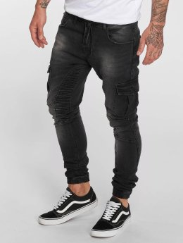 VSCT Clubwear Noah Expedited Cargo Jeans Black Stoned